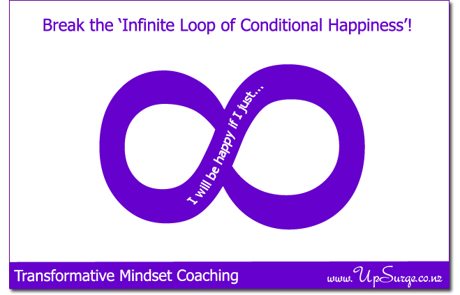 Break out of the 'Infinite Loop of Conditional Happiness'